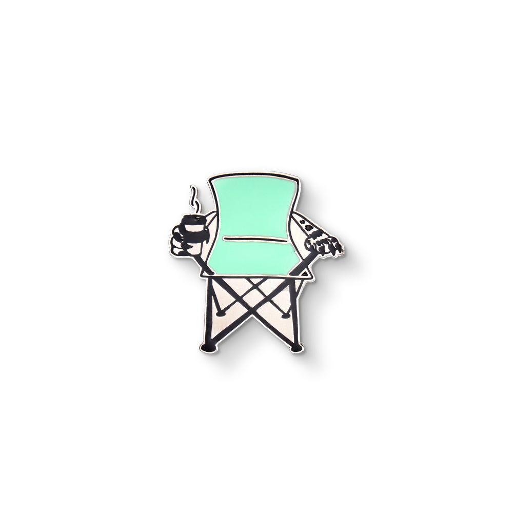 Camping Chair Enamel Pin