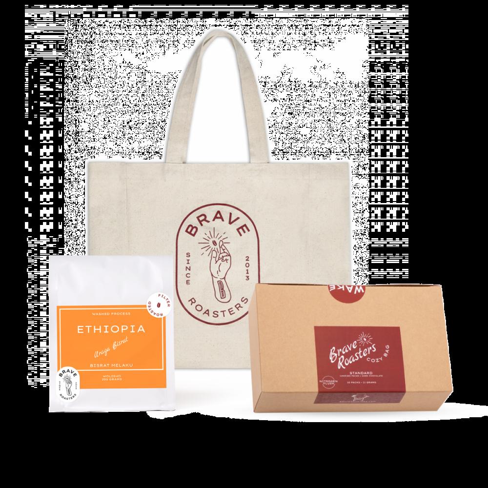 Brave Gift Set B3 (Bean + Tote Bag + Cozy Bag)