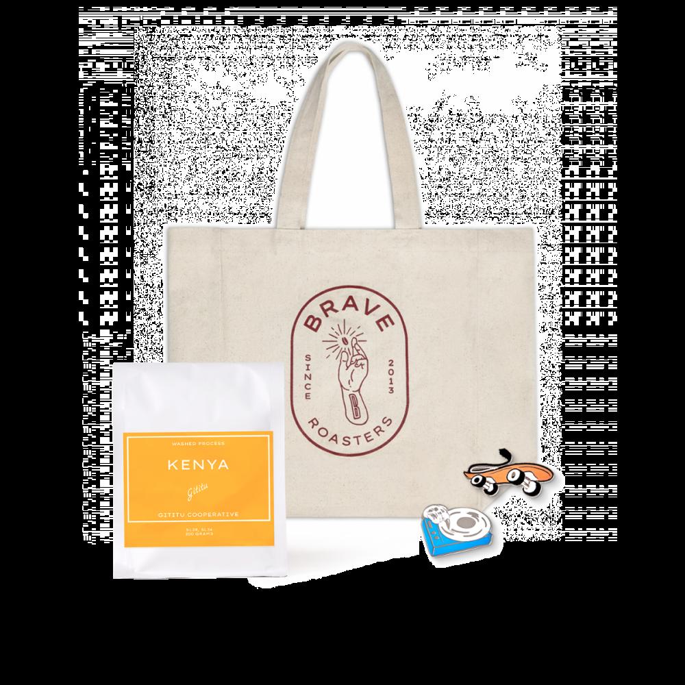 Brave Gift Set B2 (Bean + Tote Bag + Enamel Pin)