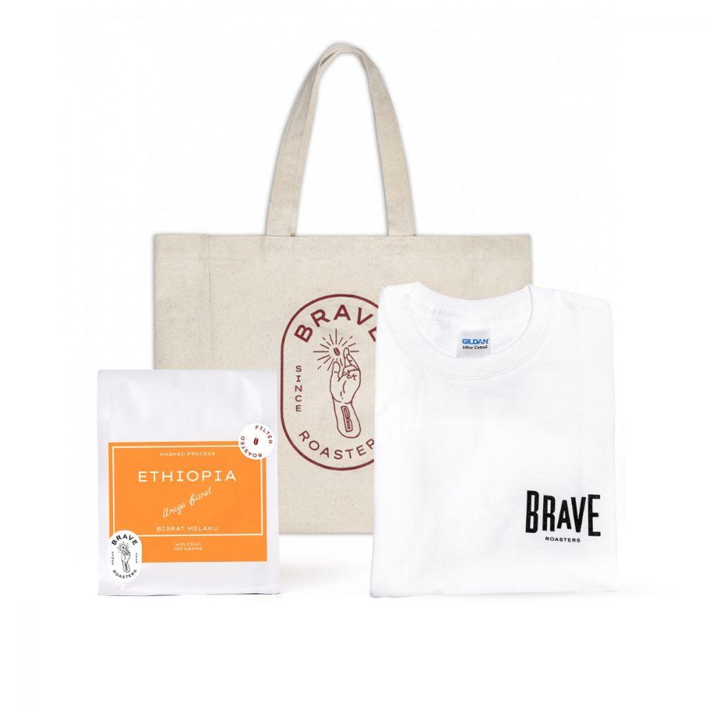 Brave Gift Set B1 (Bean + Tote Bag + T - Shirt)