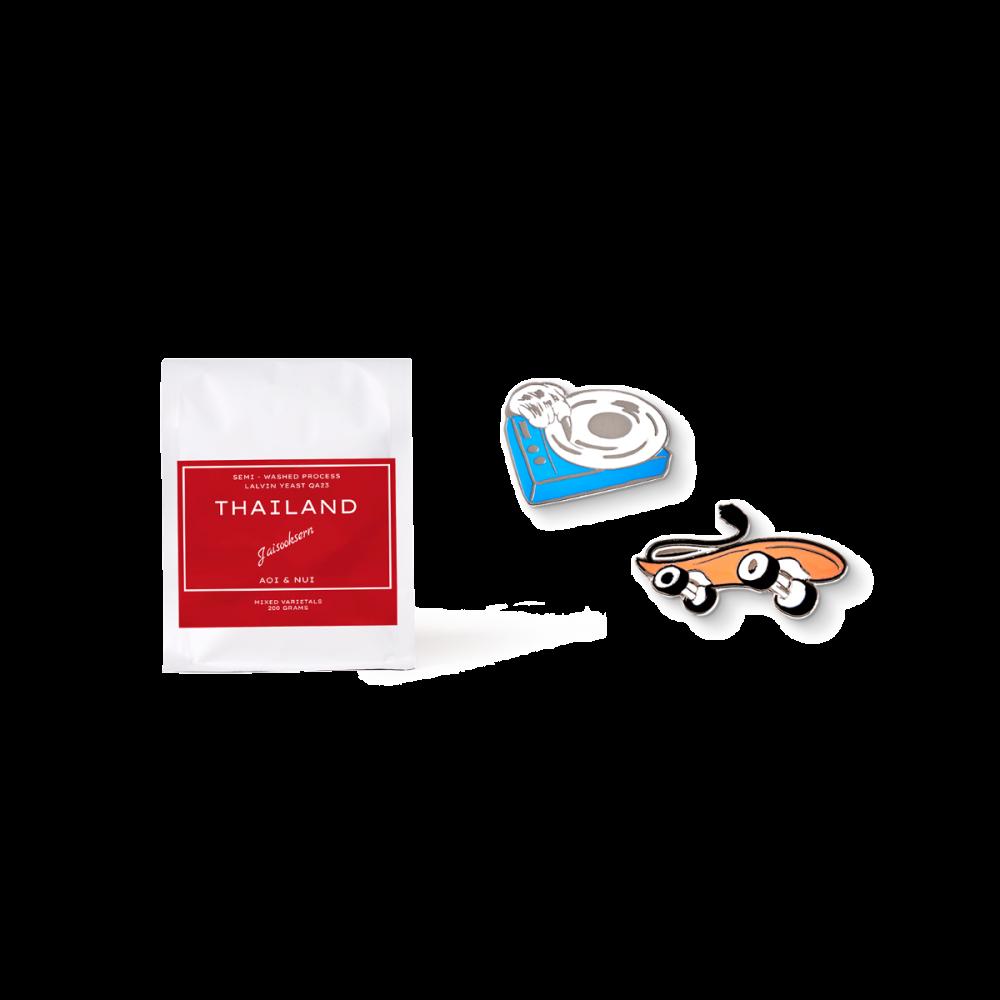 Brave Gift Set A2 (Bean + Enamel Pin)