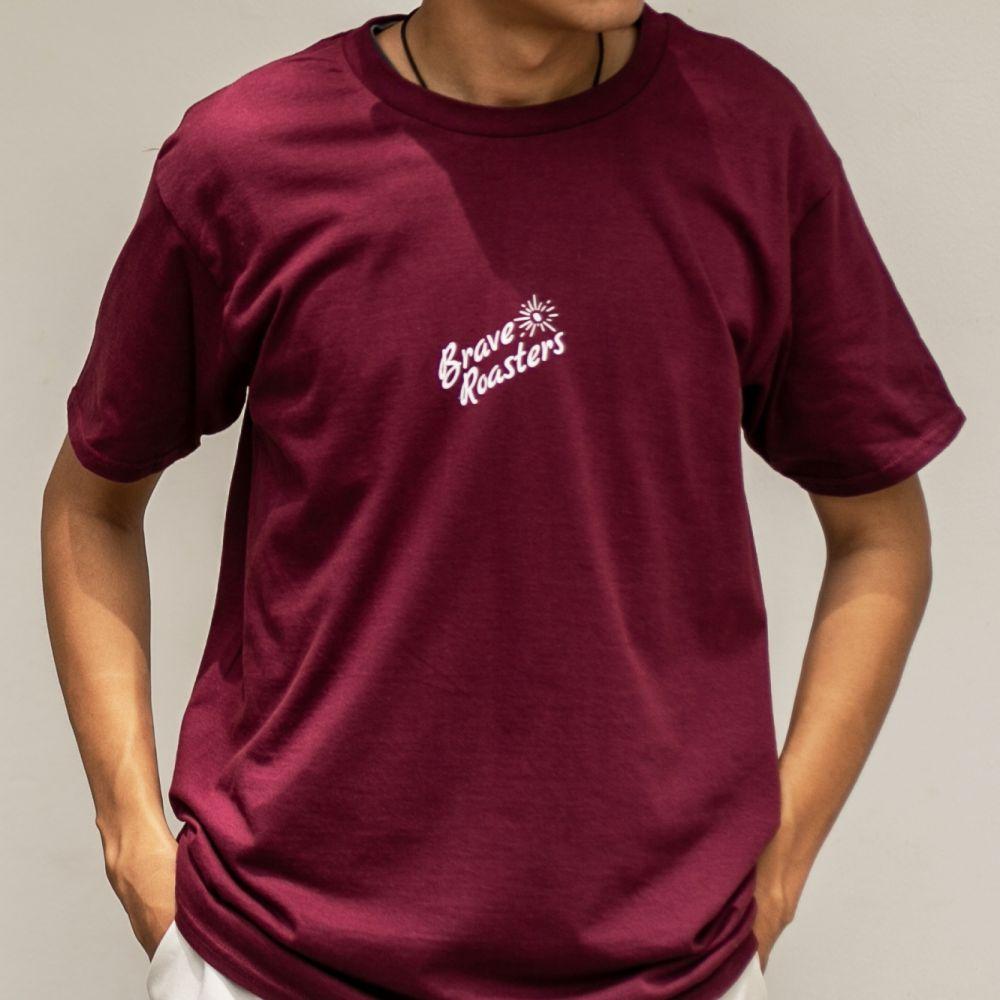 Holy Bean T-Shirt Burgundy