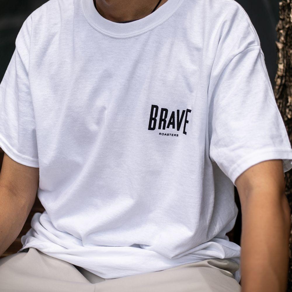 Brave Small Logo T-Shirt White