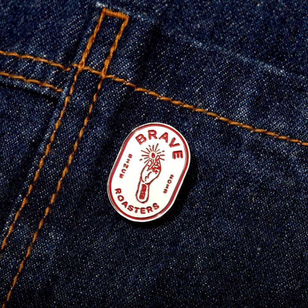 Holy Bean Logo Enamel Pin