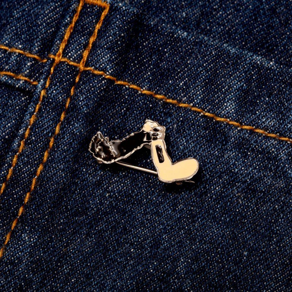 Cross Hand Enamel Pin