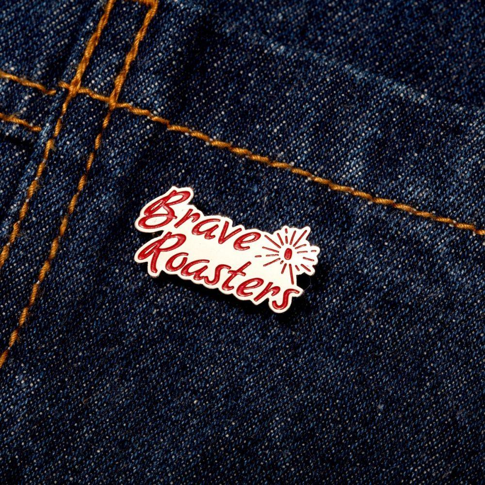 Brave Red Logo Enamel Pin