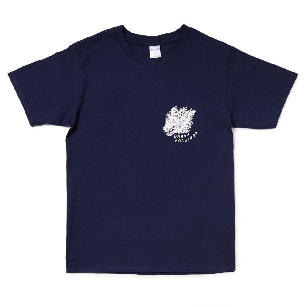 Wolf Logo T-Shirt Navy